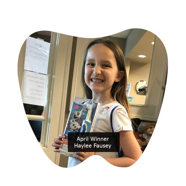 No Cavity Club April Winner Haylee Fausey