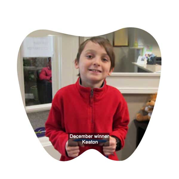 No Cavity Club December Winner Keaton