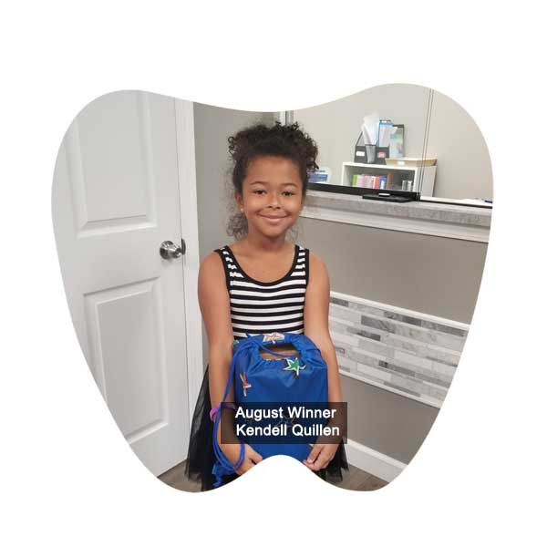 No Cavity Club July Winner - Kingston Majeed