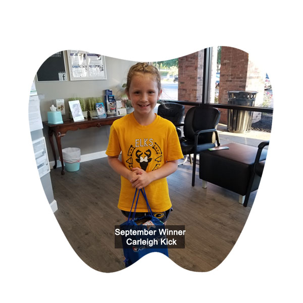 No Cavity Club July Winner - Paxtyn