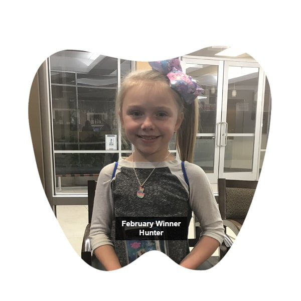 No Cavity Club February Winner Hunter