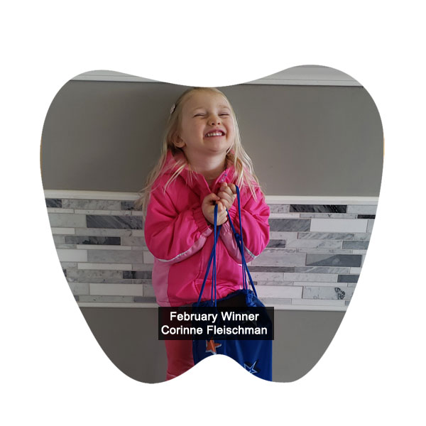 No Cavity Club February Winner Corinne Fleischman