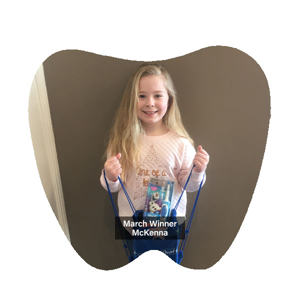 No Cavity Club March Winner McKenna