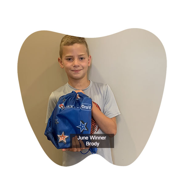 Congratulations to Brody, our No Cavity Club Winner at our Franklin location for the month of June!, Franklin OH