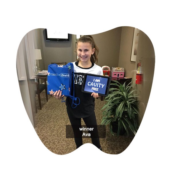 No Cavity Club December Winner Ava