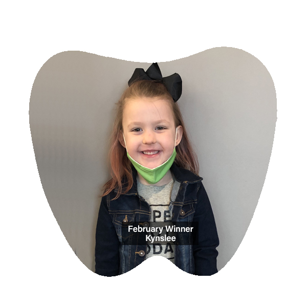 Congratulations to Kynslee, our No Cavity Club Winner for the month of February!, Franklin OH