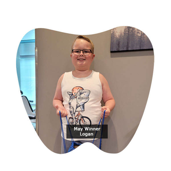 Congratulations to Logan, our No Cavity Club Winner at our Franklin location for the month of May!