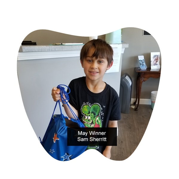 No Cavity Club May Winner - Sam Sherritt